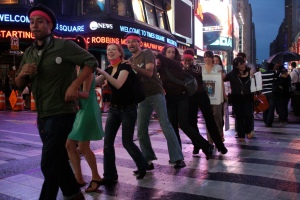 Groove Moove: The aim was to convince strangers to dance with you across the street.